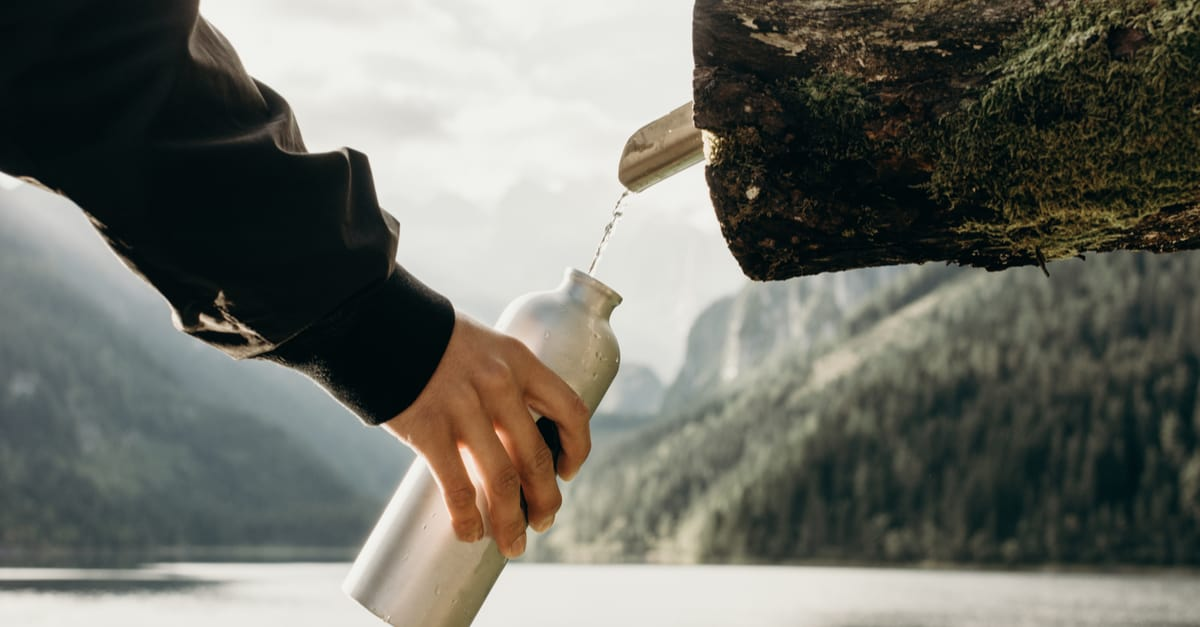 vacuum water bottle hiking