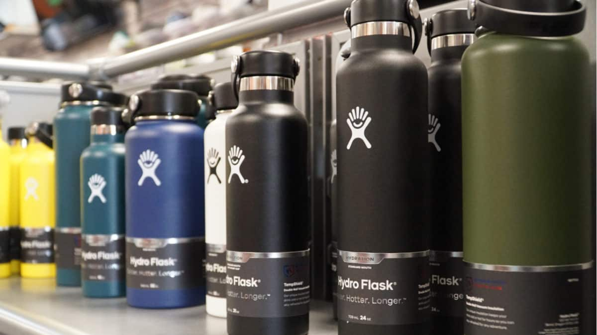 Different Hydro Flask bottles
