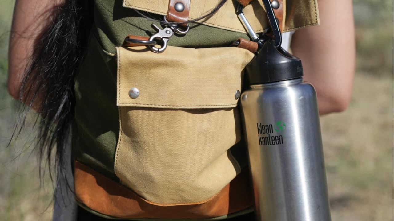 Hiker with a Klean Kanteen