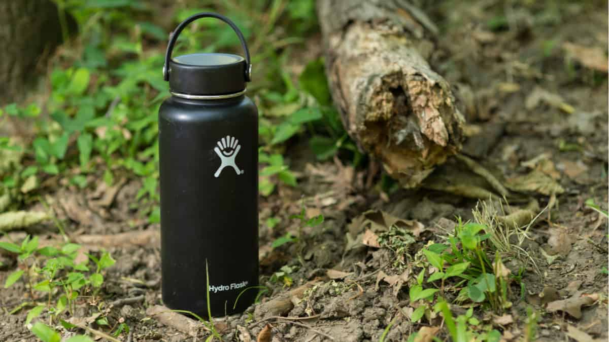Hydro Flask in a forest