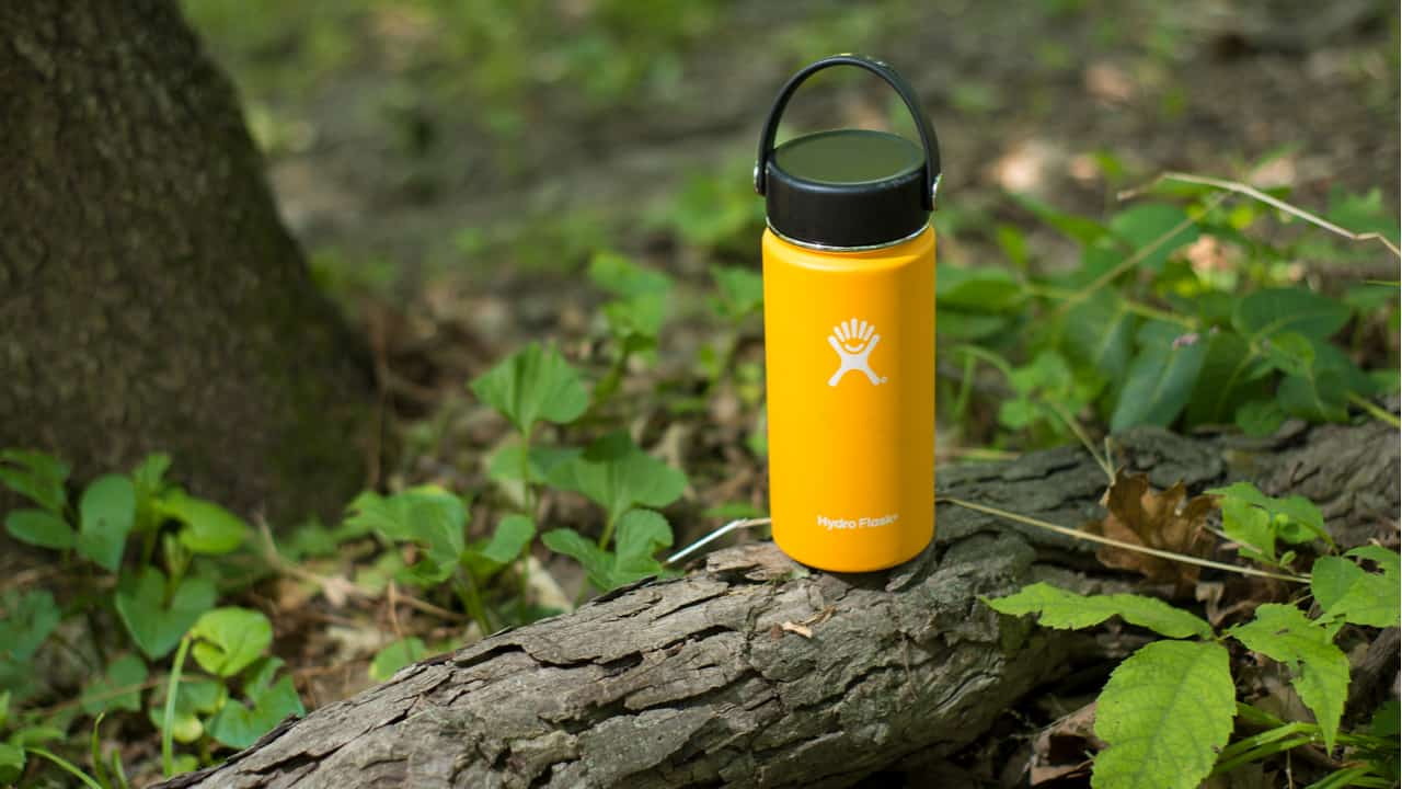Hydro Flask in a forest environment