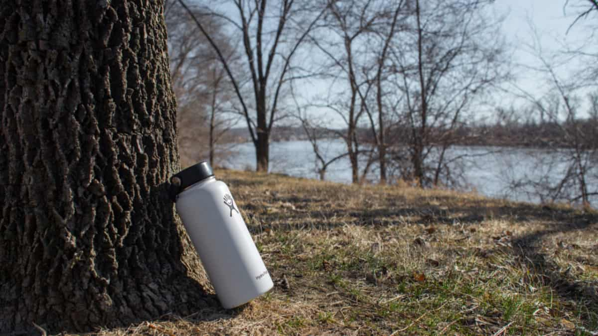 Hydro Flask in an autumn environment