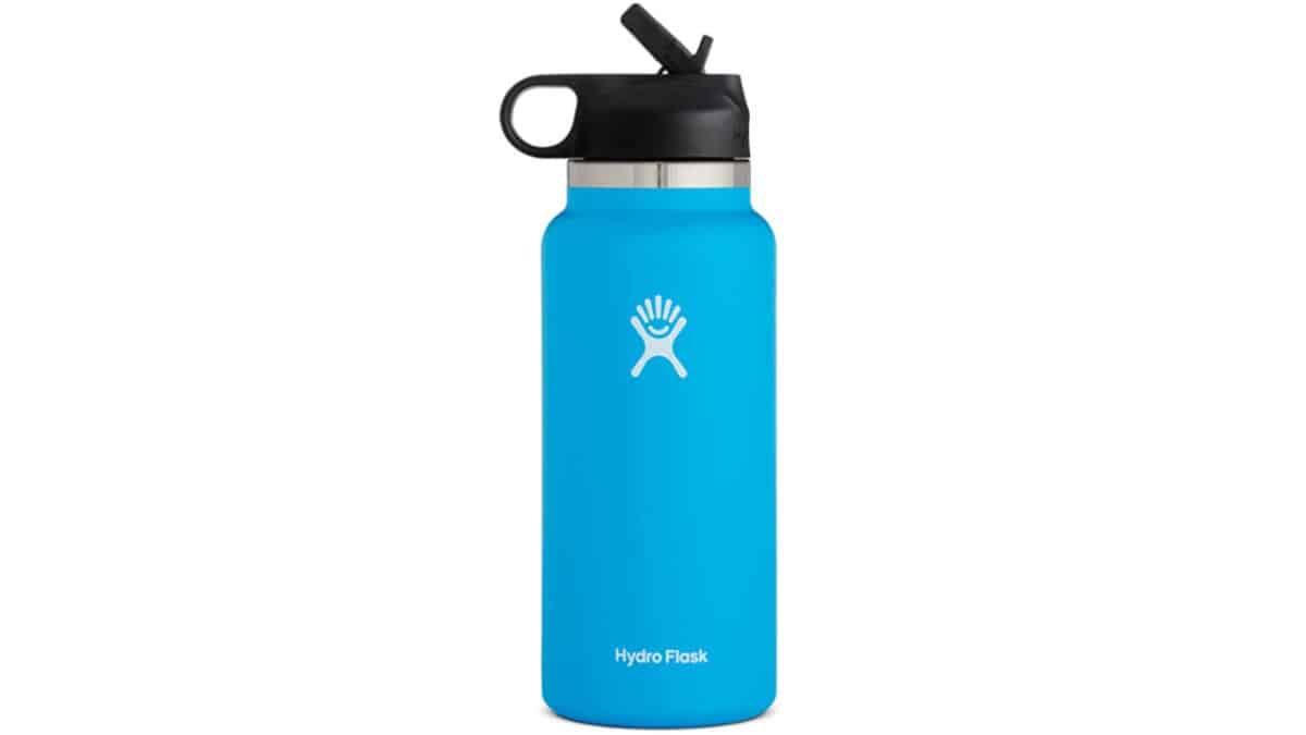 Hydro Flask straw-lid bottle