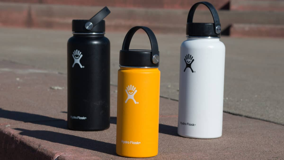 Thee Hydro Flask steel bottles